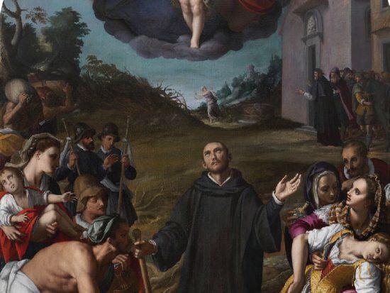 Alessandro Allori Miracoli di San Fiacre 1596